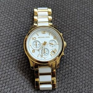 Michael Kors Watch white and gold